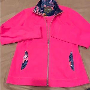 Tommy Bahama zip front jacket